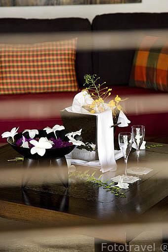 Habitación. Hotel Cap Est Lagoon Resort Spa. Cerca de LE FRANCOIS. Isla de Martinica. Francia. Caribe