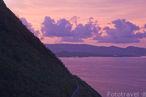 La bahia de Grande Anse du Diamant. Sur de la isla de MARTINICA. Francia. Caribe