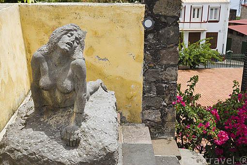 Restos del teatro, despues de la erupción de la montaña Pelee en 1902. ST-PIERRE. Isla de MARTINICA. Francia. Caribe