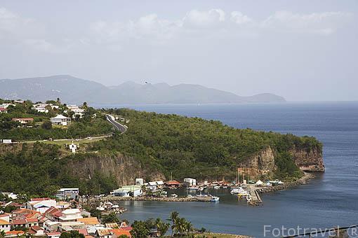Puerto del pueblo de CASE PILOTE. Nortoeste de la isla de MARTINICA. Francia. Caribe