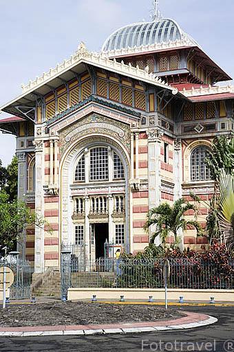 Biblioteca Schoelcher. Ciudad de FORT DE FRANCE. Isla de Martinica. Francia. Caribe