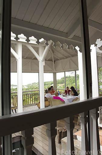 "Hotel restaurante gastronomico ""Plein Soleil"", cerca de LE FRANCOIS. Isla de Martinica. Francia. Caribe"