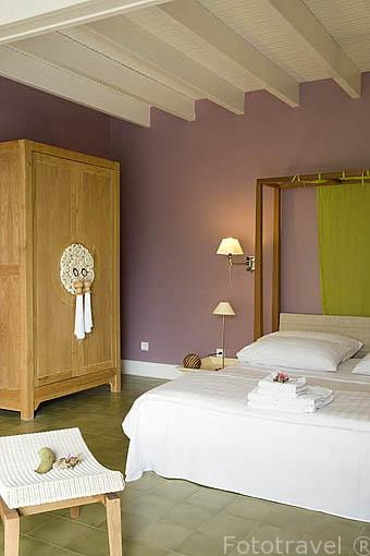 """Habitación suite. Hotel restaurante gastronomico """"Plein Soleil"""", cerca de LE FRANCOIS. Isla de Martinica. Francia. Caribe"""
