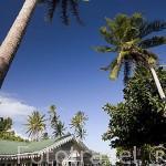 Casa y taller de estilo colonial de Monique & Bernard Champon. Isla de TAHAA. Polinesia Francesa. Oceano Pacifico