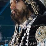 """El rey Malabar y su collar de 104 perlas. En 1290 Marco Polo lo describe como""""Pearl Pig"""" (Cerdo de las perlas). Tienda museo de Robert Wan. Ciudad de PAPEETE. Isla de Tahiti. Polinesia Francesa."""