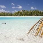 Las playas de la Laguna Azul. Atolon de RANGIROA. Archipielago de Tuamotu. Polinesia Francesa. Oceano Pacifico