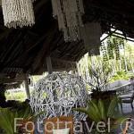 Recepción del hotel Kia Ora cerca de la población de TIPUTA. Atolon de RANGIROA. Archipielago de Tuamotu. Polinesia Francesa. Oceano Pacifico