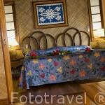 Habitación. Hotel Kia Ora cerca de la población de TIPUTA. Atolon de RANGIROA. Archipielago de Tuamotu. Polinesia Francesa. Oceano Pacifico