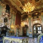 El antiguo recibidor, sala de Maximiliano. Palacio de KSIAZ (s.XIII-XX). A las afueras de WALBRZYCH. El más grande de la Baja Silesia. Polonia