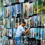 Exposión y venta de cuadros junto a la puerta de San Florian. CRACOVIA. Polonia