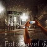 Capilla de Santa Kinga (finales del XIX). Interior de las Minas de Sal de WIELICZKA. Declaradas por la UNESCO como Patrimonio de la Humanidad. Al sur de la ciudad de Cracovia. Polonia