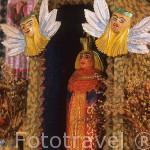 Detalle de una virgen realizada por Adam Dolezuchowicz, en su casa museo. ZACOPANE. Zona de Malopolska y montañas Tatras. Polonia