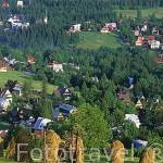 Vista de ZACOPANE y KOSCIELISKA desde la montaña Gubalowka. Zona de Malopolska. Polonia