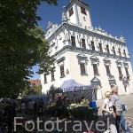 Torre del Ayuntamiento. Estilo gotico,1298, renovada en 1567-1572 convertida a estilo renacentista. CHELMNO. Polonia