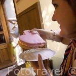 Pastel tipico con forma de corazon. CHELMNO. Polonia