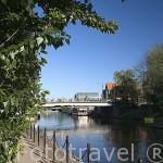 El rio Brda. Ciudad de BYDGOSZCZ. Polonia