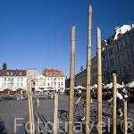 La plaza mayor Stary Rynek. Ciudad de BYDGOSZCZ. Polonia