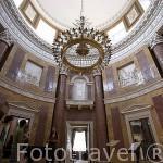 Sala principal del palacio de Lubostron. Pueblo de LUBOSTRON, cerca de la ciudad de Bydgoszcz. Polonia