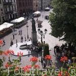Plaza del Ayuntamiento y la escultura de Copernico. Ciudad de TORUN. (Unesco). Kuyavia- Pomerania. Polonia