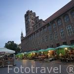 Puestos de venta de flores naturales junto al Ayuntamiento. Ciudad de TORUN. (Unesco). Kuyavia- Pomerania. Polonia