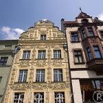 Fachadas de edificios, en el casco viejo de la ciudad de TORUN. (Unesco). Kuyavia- Pomerania. Polonia