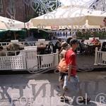 Terraza del restaurante y terraza Kuranty. Ciudad de TORUN. (Unesco). Kuyavia- Pomerania. Polonia