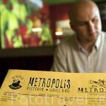 Carta del restaurante Metropolis. Centro historico de la ciudad de TORUN. Kuyavia- Pomerania. Polonia
