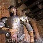 Caballero con armadura. Castillo de Golub Dobrzyn. Poblacion de GOLUB DOBRZYN. Region de Kuyavia- Pomerania. Polonia
