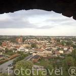 Vista de la ciudad de BRODNICA desde la torre medieval de los caballeros teutonicos. Region de Kuyavia- Pomerania. Polonia