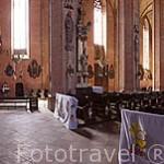 Interior de la iglesia de Sta. Maria Inmaculada s.XIII- XIV. Gotica. CHELMNO. Region de Kuyavia- Pomerania. Polonia