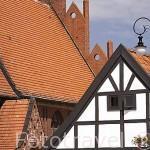 Torre y vivienda en la poblacion de RYNEK. Region de Kuyavia- Pomerania. Polonia