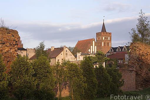 Murallas de la ciudad de BRODNICA. Region de Kuyavia- Pomerania. Polonia