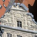 Fachada del edificio de la estrella de estilo gotico en la plaza del Ayuntamiento. Centro historico de la ciudad de TORUN. Kuyavia- Pomerania. Polonia