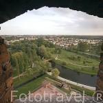 Vista desde la torre medieval teutonica. Ciudad de BRODNICA. Region de Kuyavia- Pomerania. Polonia