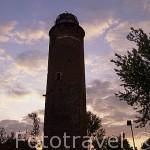 La torre medieval (s. XIV) teutonica perteneciente a un antiguo castillo. Ciudad de BRODNICA. Region de Kuyavia- Pomerania. Polonia