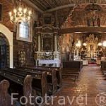 Pinturas barrocas en la pared con motivos biblicos cubren cerca de 700 mts2, siendo las más grandes en Europa. Originales del s.XVII. Iglesia de San Nicolas. GASAWA. Polonia