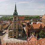 Vista de la ciudad de TORUN (Unesco) desde la torre del Ayuntamiento. Region de Kuyavia- Pomerania.