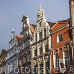 Edificios en el Mercado Largo. Ciudad de GDANSK. Polonia