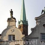 Fachadas de casas en la calle Piwna. Ciudad de GDANSK. Polonia