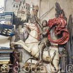San Jorge matando al dragón. Interior del Palacio del Rey Arturo. Calle Mercado Largo. Ciudad de GDANSK. Polonia