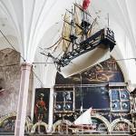 Interior del Palacio del Rey Arturo. Calle Mercado Largo. Ciudad de GDANSK. Polonia