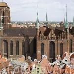 Torre de la iglesia de Santa Maria, una de las más grandes en ladrillo de Europa. 1343-1502. Ciudad de GDANSK. Polonia