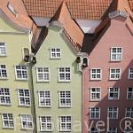 Fachadas de casas burguesas en el casco historico de la ciudad de GDANSK. Polonia