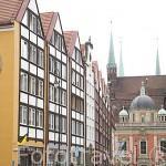 Edificios en el centro histórico de la ciudad de GDANSK. Polonia