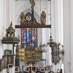 Interior iglesia de Santa Maria. Ciudad de GDANSK. Polonia