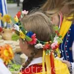 Gente de la zona de Kaszuby y su traje tipico. Mercado de la ciudad de GDANSK. Polonia