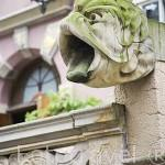 Gárgolas. Calle de Mariacka. Casco histórico. Ciudad de GDANSK. Polonia