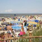 Playa de Jantar. Población de JANTAR. Polonia