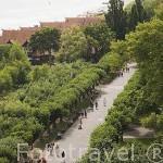 Paseo peatonal y para ciclistas Monte Casino. Población de SOPOT. Polonia