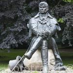 Escultura de Jan Jerzy Haffner, 1775-1830. Creador de los sanatorios en la población de SOPOT. Polonia